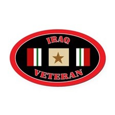 Iraq-1-oval Oval Car Magnet
