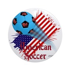 Shirt_USASoccerBonana Round Ornament