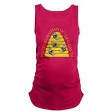 beekeepers dark Maternity Tank Top