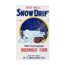 Snow Drift flour bag Decal
