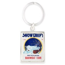 Snow Drift flour bag Portrait Keychain