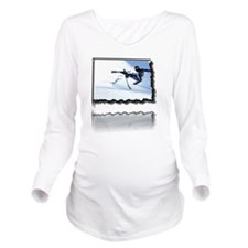 2011-12-06_iPX_Ski_w Long Sleeve Maternity T-Shirt