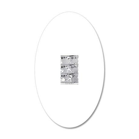 JUGEND 1896 CROQUET - EDIT 20x12 Oval Wall Decal
