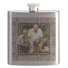 Personalizable Pink Bling Frame Flask