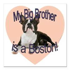 "boston bro.gif Square Car Magnet 3"" x 3"""