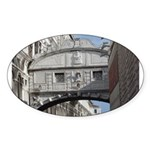 Bridge of Sighs Oval Sticker