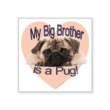 "pug bro.gif Square Sticker 3"" x 3"""
