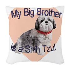 shihtzu bro.gif Woven Throw Pillow