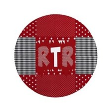 """RTR houndstooth  3.5"""" Button"""