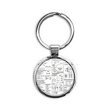 CERT Bandana rev1d Round Keychain
