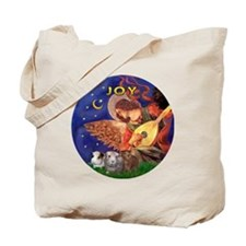Christmas Angel - Three Guinea Pigs Tote Bag