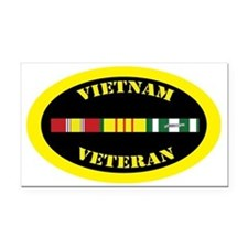 vietnam-oval-0-1 Rectangle Car Magnet