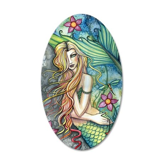 Fresh Water Mermaid cp 35x21 Oval Wall Decal