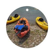 kayak Round Ornament