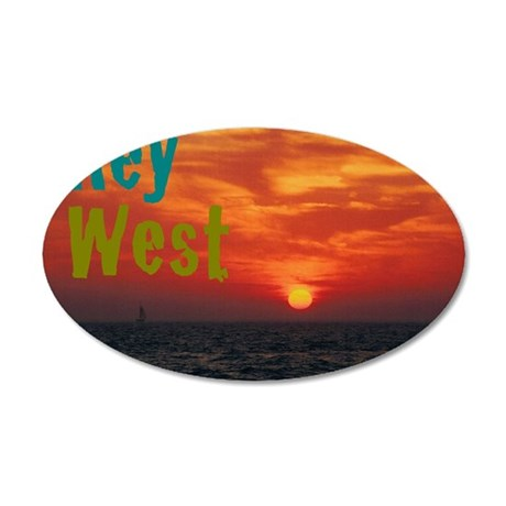 11.5x9at260Sunset1KW 35x21 Oval Wall Decal