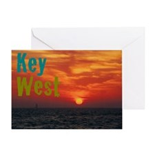 11.5x9at260Sunset1KW Greeting Card