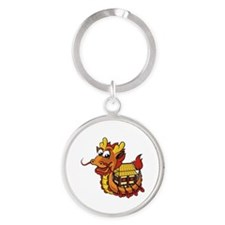 dragonboat Round Keychain