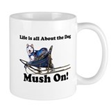 Siberian Husky Mush On! Small Mug