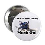 Siberian Husky Mush On! 2.25&quot; Button (100 pack)