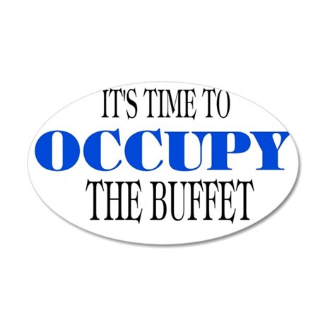 occupybuffet 35x21 Oval Wall Decal
