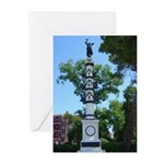 Monument, Giardini Greeting Cards (Pk of 10)