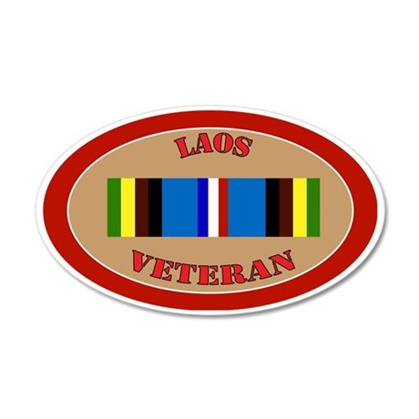 laos-Expeditionary-oval 35x21 Oval Wall Decal