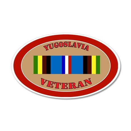 yugoslavia-Expeditionary-ova 35x21 Oval Wall Decal