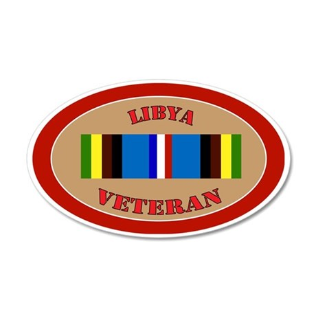 libya-Expeditionary-oval 35x21 Oval Wall Decal