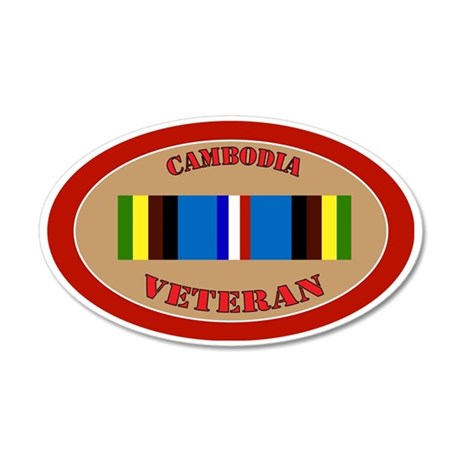 cambodia-Expeditionary-oval 35x21 Oval Wall Decal