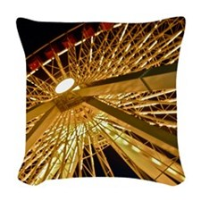 Navy Pier Woven Throw Pillow