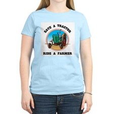 Save a Tractor Women's Light Blue T-Shirt