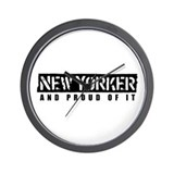 New Yorker 1 Wall Clock