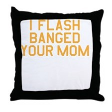flashbang_on-black Throw Pillow
