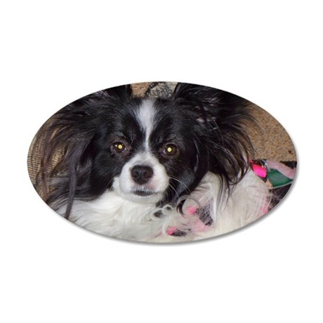 Papillon 35x21 Oval Wall Decal