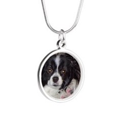 Papillon Silver Round Necklace