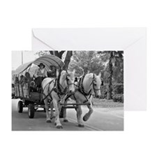 Horse and Wagon Greeting Card