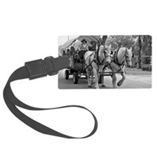 Horse and Wagon Luggage Tag