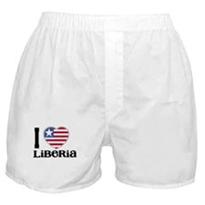 I love Liberia Boxer Shorts