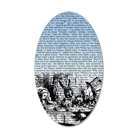 alice-vintage-border_blue_9- 35x21 Oval Wall Decal