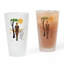 YogaAfricacardNvala Drinking Glass