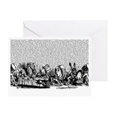 alice-vintage-border_bw_12-5x18h Greeting Card
