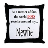 Nefie World Throw Pillow