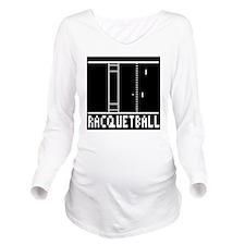 RACQUETBALL Long Sleeve Maternity T-Shirt
