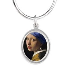 RM Vermeer Pearl Silver Oval Necklace