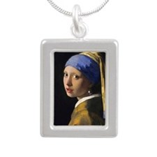 RM Vermeer Pearl Silver Portrait Necklace