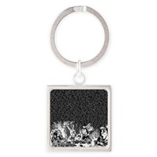 alice-vintage-border_black_14-333x Square Keychain