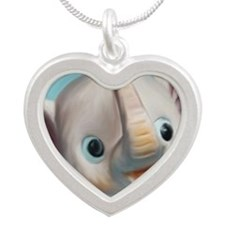 elephantycafe Silver Heart Necklace