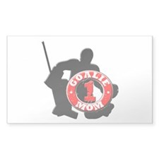 Hockey Goalie Mom #1 Rectangle Decal