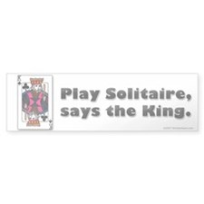 Play Solitaire Bumper Bumper Sticker