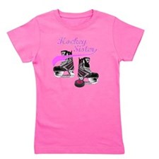 hockey_sister_pink Girl's Tee